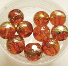 Drawbench glass beads. Orange. 8mm x 10